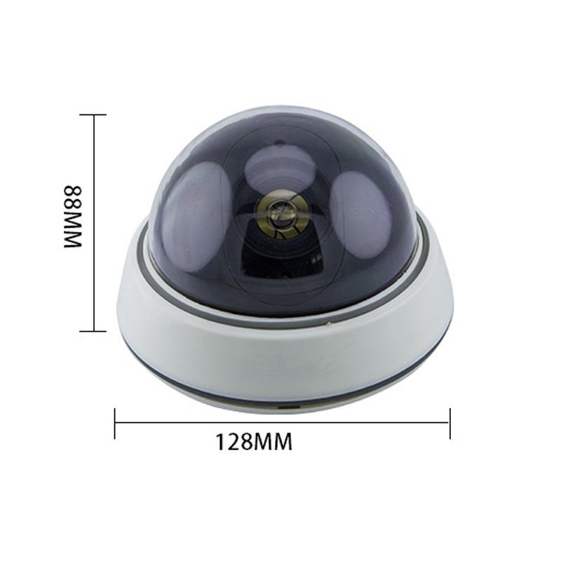 Topvico 2pcs Dummy Camera Battery Powered Flicker LED Fake Camere Surveillance House Home Security Camera CCTV Dome Camera