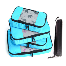 Large Capacity Of Bags Unisex Clothing Sorting Organize 4 Pcs/set Nylon Packing Cube Travel Bag System Durable Set joie litetrax 4 gemm travel system