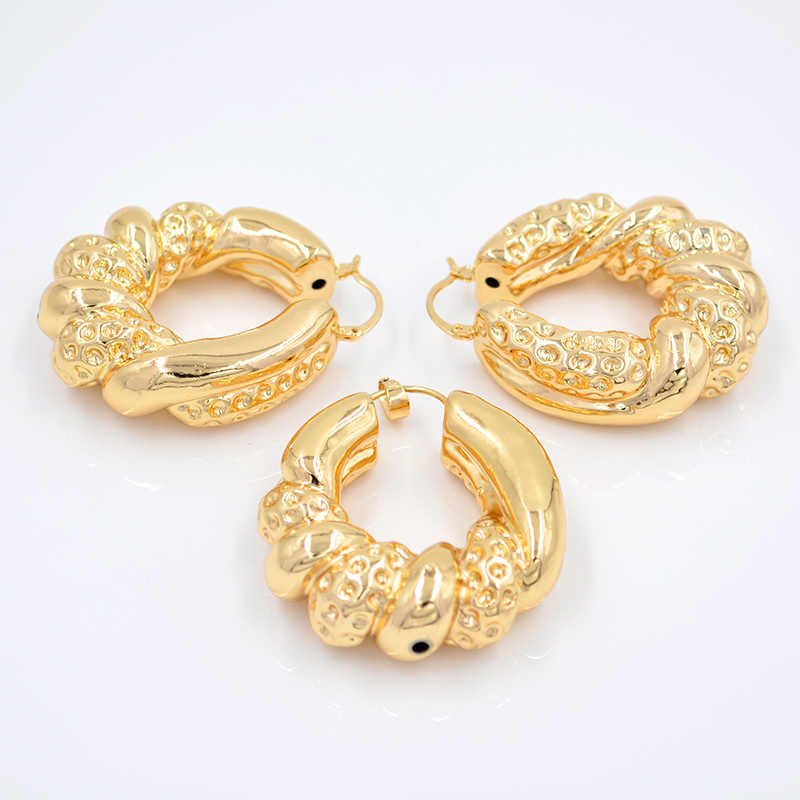 ZEADear bijoux grand cerceau femmes bijoux ensembles boucles d'oreilles pendentif cuivre serpent torsadé pour fête mariage quotidien