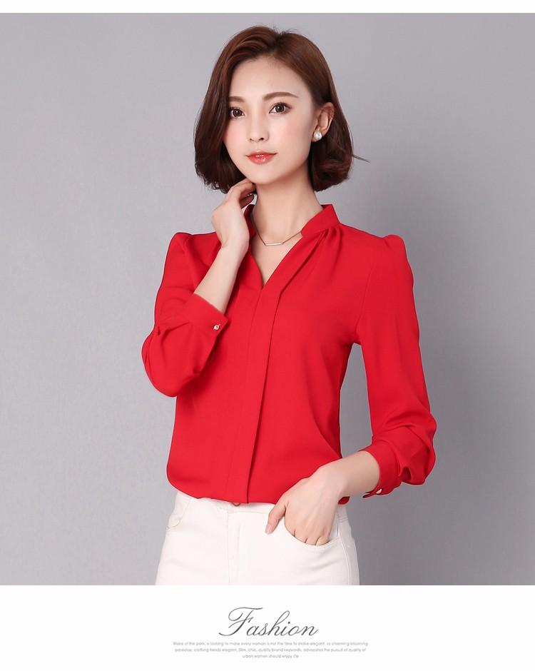 HTB14KN1LpXXXXbLXFXXq6xXFXXXC - Long Sleeve Elegant Ladies Office Shirts Fashion Casual Slim Women