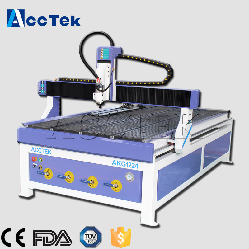 2018 AKG1224 CNC routeur avec des options d'axe rotatif, CE standard chine pas cher prix 4 axes CNC routeur