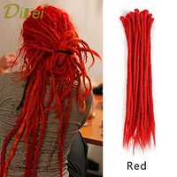 DIFEI 10 Strands Kanekalon Dreadlocks 20 inch Pure Polor Crochet Braids Synthetic Crochet Hair Extensions 12 Colors Available