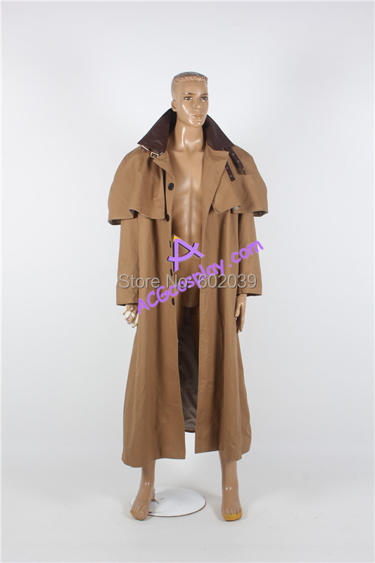 Hellboy hell boy Golden Army cosplay costumes outer coat only thick cotton canvas made