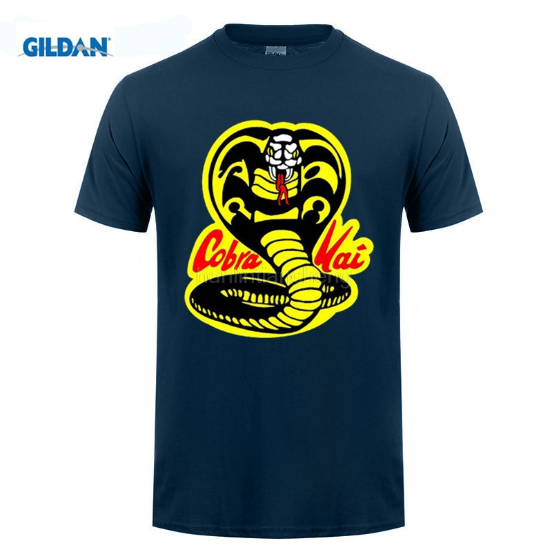 Возьмите стиль Мужская футболка S Повседневное брендовая одежда из хлопка новый Кай карате малыш кино Мужская футболка
