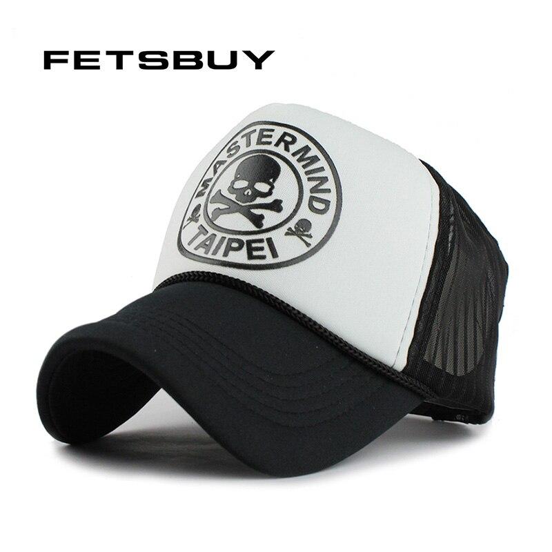 FETSBUY Casual Unisex Skull mesh Baseball Caps