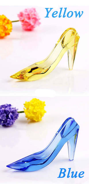 Online Shop 13 3 7cm Beautiful k9 Crystal Valentine s Day gift Cinderella  Fairy Tale glass Shoes Wedding Decoration best souvenir DIY  8cc42c3e2499