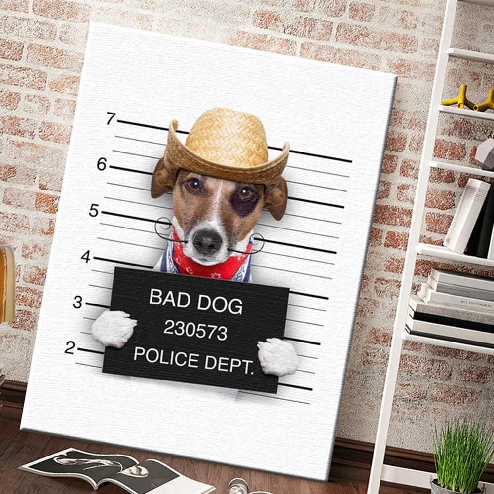 HTB14KNTLFzqK1RjSZFvq6AB7VXaR Nordic Style Boxing Dog Canvas No Frame Art Print Painting Poster Funny Cartoon Animal Wall Pictures For Kids Room Decoration