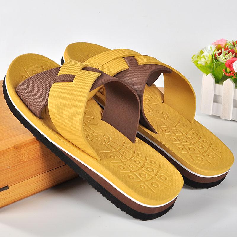 Mazefeng 2018 New Fashion Summer Men Casual Slippers Men Print Slippers Slip-on Antiskid Male Bath Slippers Outdoor Beach Light