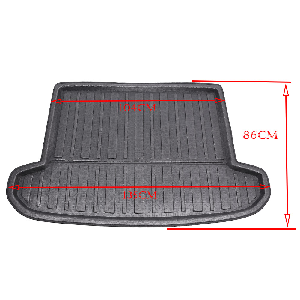 цена For All-New Tucson Rear Trunk Cargo Liner Boot Mat Floor Tray Carpet Mud Protector Cover 2016 2017 2018 (TL) Automobile Accesory