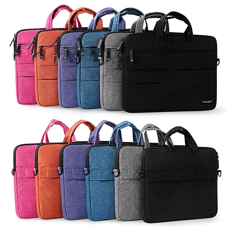 Laptop Bag Case for Macbook 11 13 15 inch Sleeve Cover Tablet Computer Notebook Nylon Shoulder For