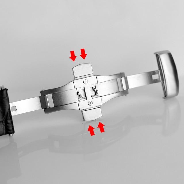 Orijinal dana derisi deri erkekler için Watchband 1853 Tissot için saat kayışı T035410A 407A Couturier 22 23 24mm saat kordonları kemer bilezik