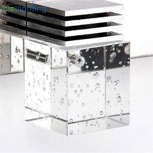 Image 3 - Светодиодный настенный светильник с кристаллами, зеркальный передний светильник, настенный светильник для ванной, современный настенный светильник для спальни, гостиной, Настенный бра, светильник
