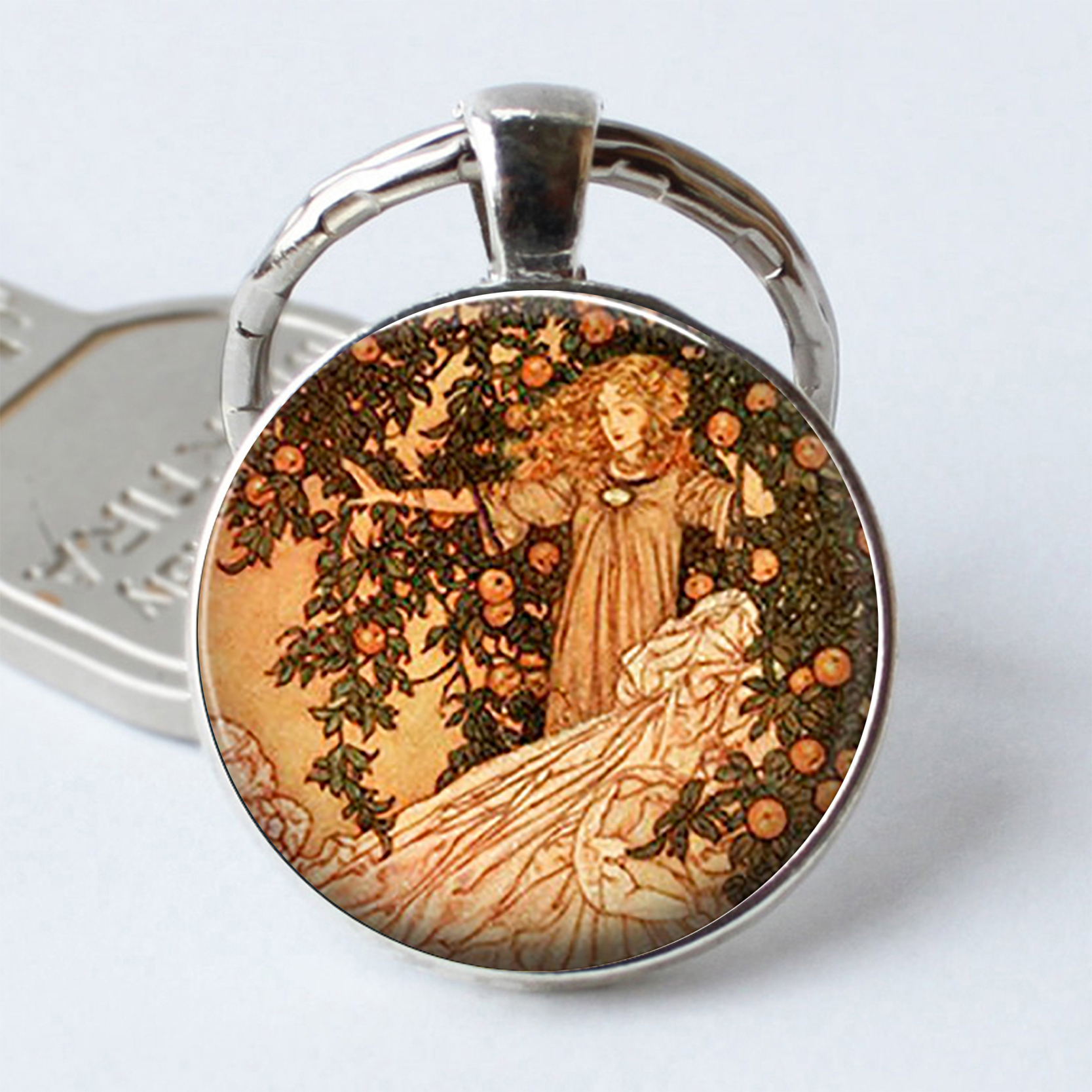 Fairy Tale series jewelry key chain garden goddess picture glass ...
