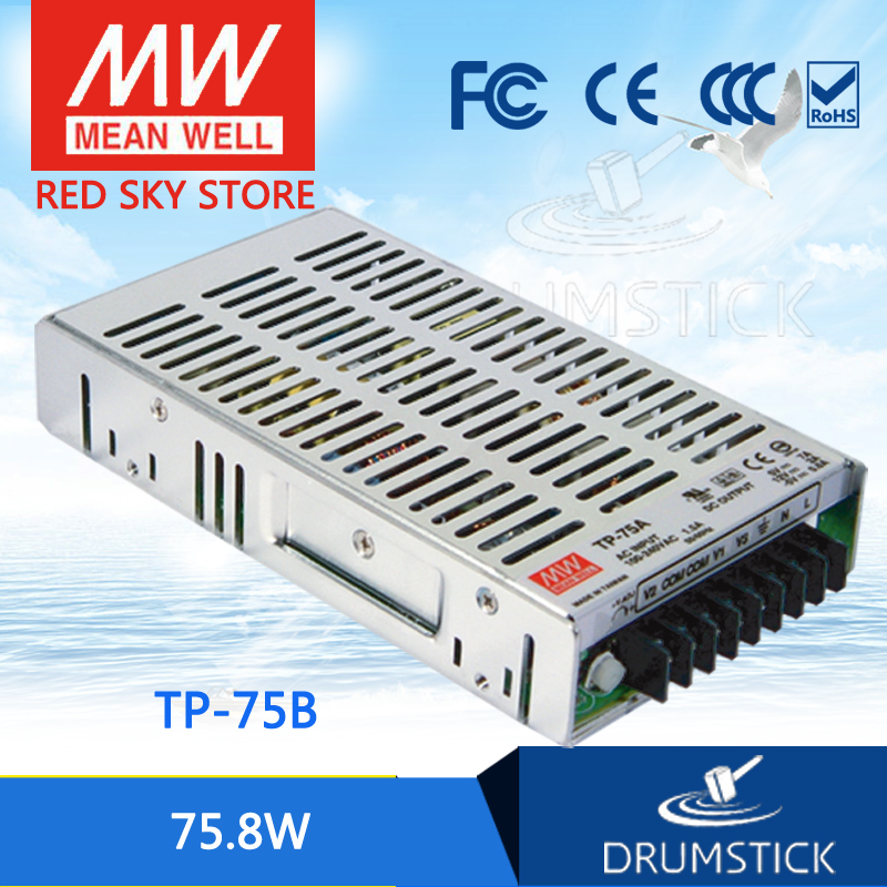 hot-selling MEAN WELL TP-75B meanwell TP-75 75.8W Triple Output with PFC Function Power Supply original mean well tp 150b meanwell tp 150 148 2w triple output with pfc function power supply
