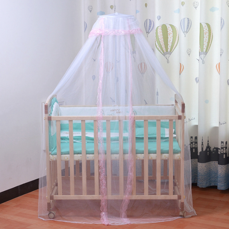 Bed Mosquito Net Mesh Dome Curtain Canopy Crib Toddler Child Bedroom Cover L