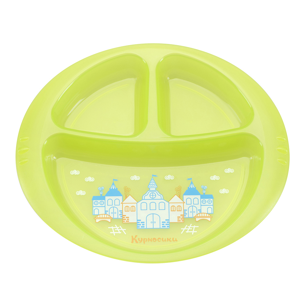 Dishes KURNOSIKI 17305 for boys and girls Baby tableware plate set children products