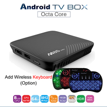 M8S MECOOL PRO Android 7.1 Smart TV Caja Amlogic S912 Octa Core 3G 16G Set Top Box Bluetooth 4.1 2.4 GHz/5 GHz WiFi Media jugador