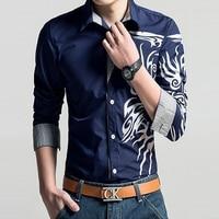 Brand 2016 New Men S Long Sleeved Dress Shirt European Dragons Male Shirts Men S Casual