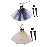 2 SETS 1/6 Scale Gauzy Dress Briefs Socks Set for Blythe Azone Licca Doll