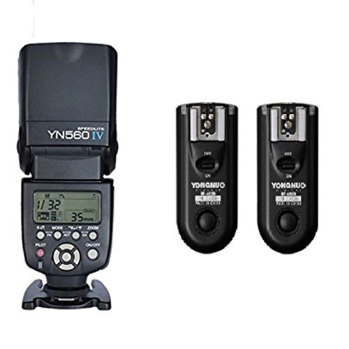 Yongnuo Yn560 IV Master Radio Flash Speedlite + RF-603 II Flash Trigger for Canon Pentax Olympus yongnuo yn560 iv yn560iv wireless master radio flash speedlite 2pcs rf 605c rf605 lcd wireless trigger for canon dslr cameras