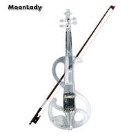 High Quality Violin Plastic Classic Crystal Electric Violin With Violin Case And Violin Bow Compact Structure