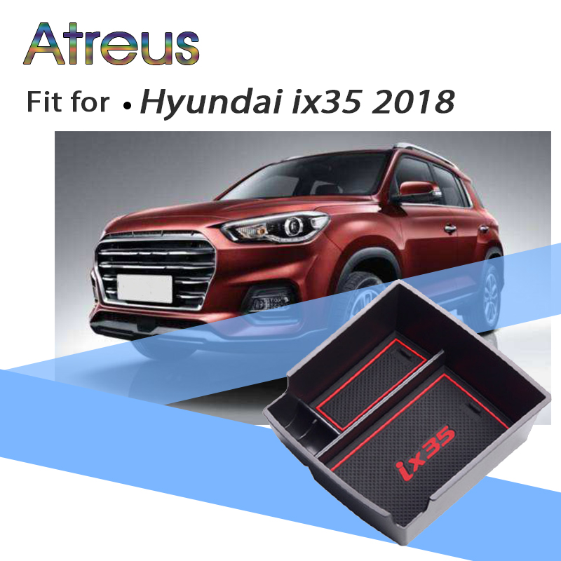 Car Central Console Bin Tray Holder Armrest Storage Box For Hyundai Tucson 2017 2018 2016 2015 Accessories For Hyundai IX35 2018 executive car