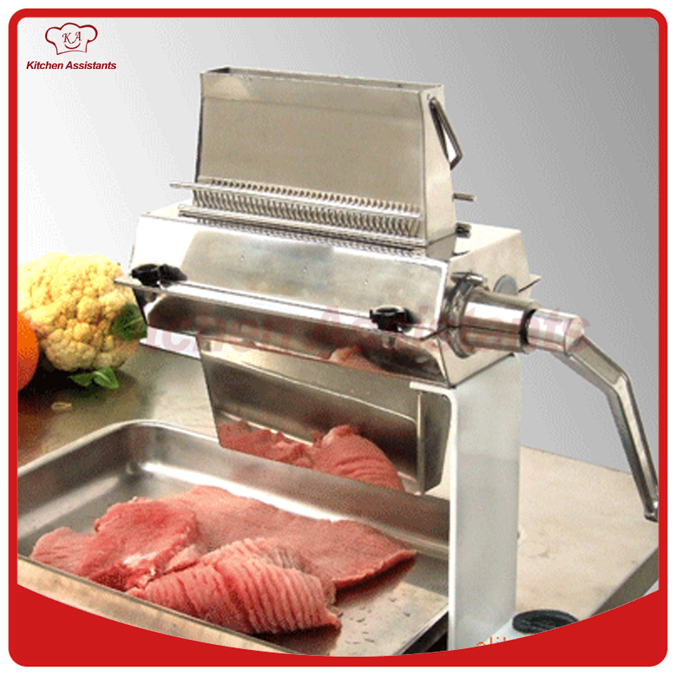 TS714A stainless steel handheld meat tenderizer machine with needles parts stainless steel manual cut meat machine