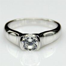 1 Carat Half Bezel Esdomera Moissanites 14k White Gold Engagement Ring Lab Grown Diamond Fine Jewelry Wedding Rings