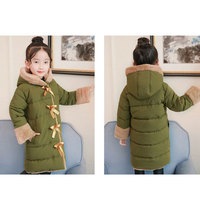 Children Winter Coat Long Quilted Jacket Fashion Roupas Infantis Menina Warm Parkas Kids Students Thick Hooded Outerwear Clothes