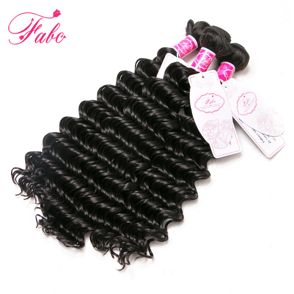 FABC Hman Hair Malaysian Deep Wave Hair Extensions 1Pc 100g Human Weave Hair Bundle 100% Remy Hair 10-28 inch Free Shipping