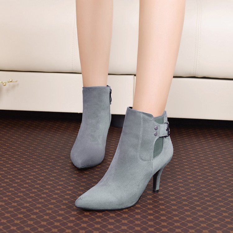 ФОТО New arrival 2016 small yards 32 33 side zipper thin heels plus size 40 - 43 female boots free shipping
