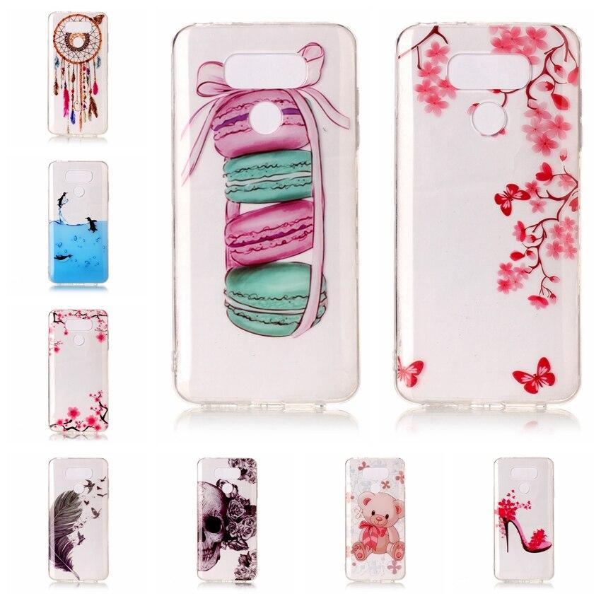 Aipuwei чехол для LG G6 прозрачная задняя крышка чехол для LG G6 5.7 дюймов телефон с медведями цветы мягкой Ультра тонкий 2017 кожи