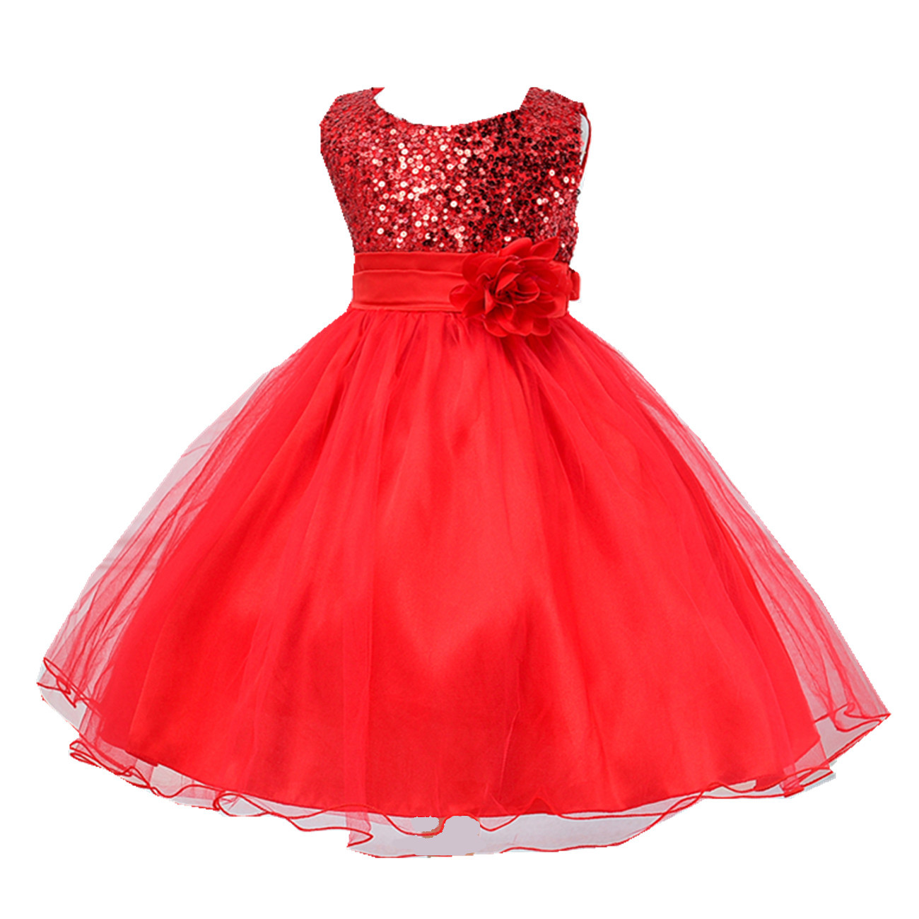Christmas dress girls - Flower Girl Dress For Wedding Party Petals Tulle Dresses Teen Girls Clothes Children S Clothing Christmas Party