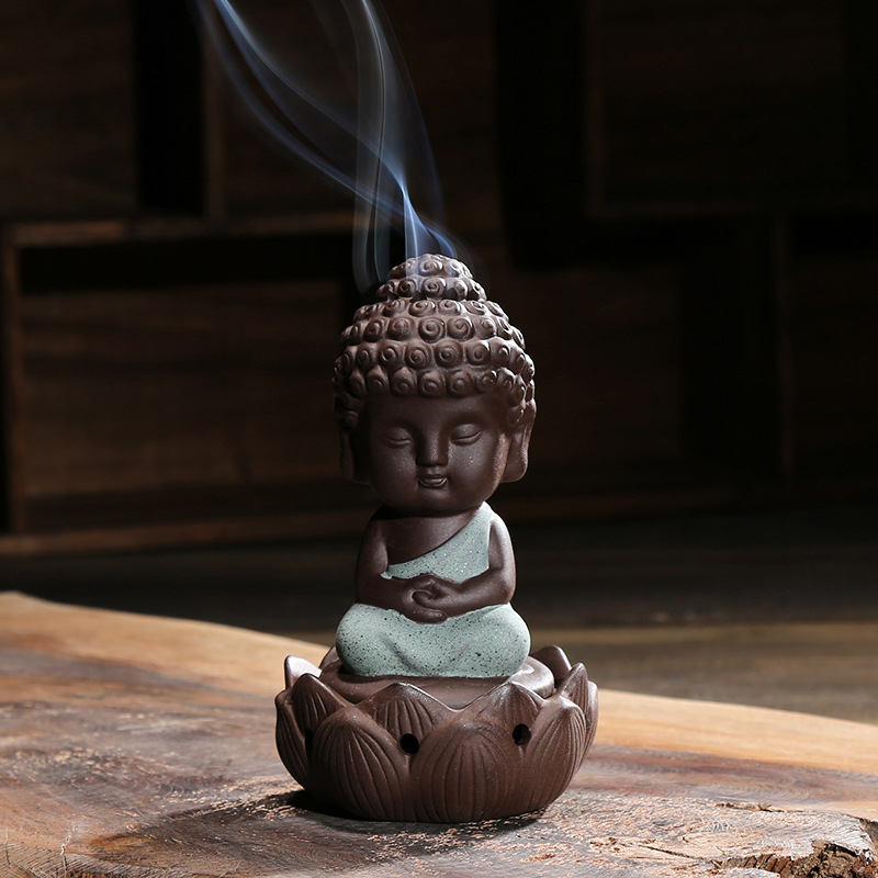 2016 New Ceramic Incense Burner Buddha Holder Handmade Creative