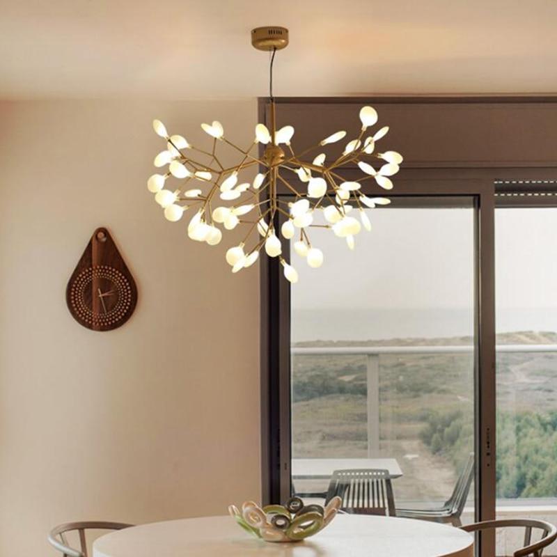 Glhwrmchen Pendelleuchten Moderne Wohnzimmer Restaurant Zimmer Dekorative Lampe Baum Form 12 27