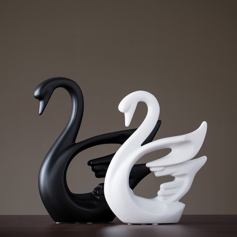 Креативная Керамическая маленькая декоративная фигурка животного олень украшение домашнего декора керамическое ремесло творчества - 4