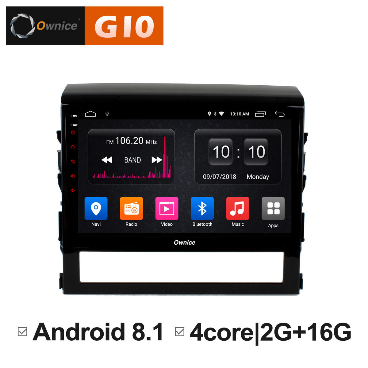 android 8.1 car dvd Video Multimedia player for Toyota land cruiser 200 LC200 2016 gps Navigation radio 4G LTE IPS 2.5D Nano dab