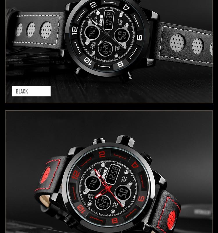SKMEI 2019 Men\`s Wrist Watches Top Brand Luxury Watch Men Sports Leather Watches Business Digital Watch For Men reloj hombre (14)