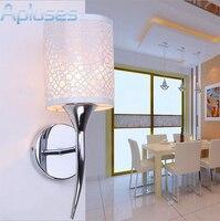 الموضة الحديثة الفن عالية الجودة نسيج الجدار مصباح للمنازل نوم غرفة المعيشة الديكور الجدار ضوء الفضة فقاعة أسلوب بسيط