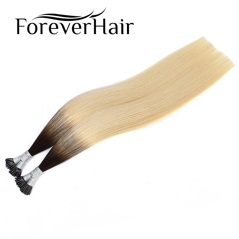 FOREVER HAIR 3 Tone Ombre Color #2T613 0.8g/s 20 Inch 100% Remy Human Hair I Tip Hair Extensions Straight Pre Bonded  For Salon
