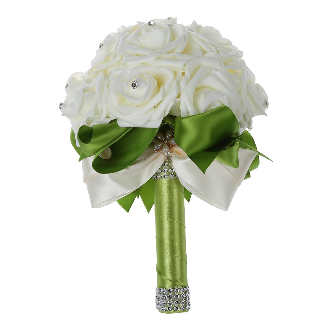 White Flower Wedding Bouquet: Boutique Beautiful Wedding Bouquet Bridal Bridesmaid