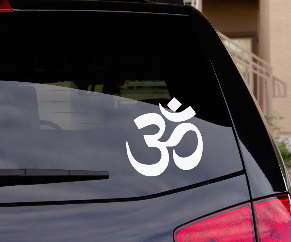 Aum om symbol hinduism spiritual wall car decal sticker highest aum om symbol hinduism spiritual wall car decal sticker highest quality factory sale directly stickers muraux wall art d447 in wall stickers from home biocorpaavc