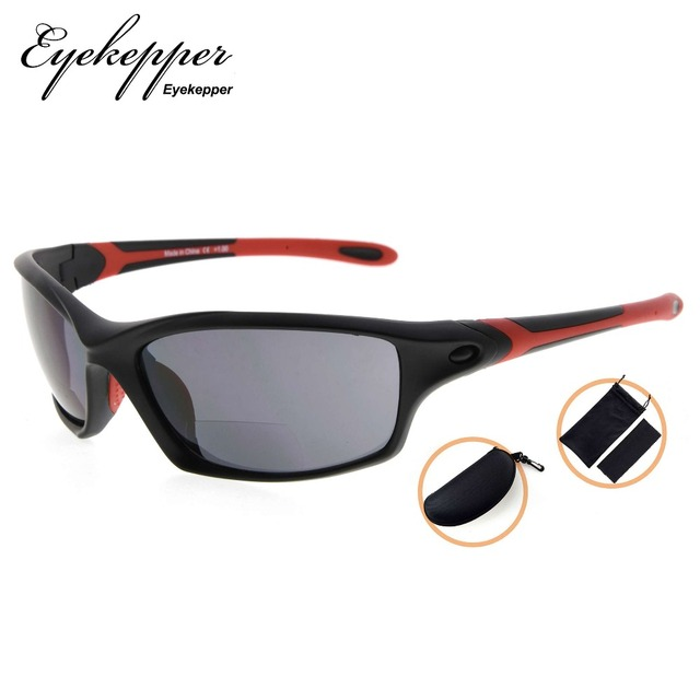 SG903 Eyekepper TR90 Frame Bifocal Sports Sunglasses Baseball Running Fishing Driving Golf Softball Hiking Readers