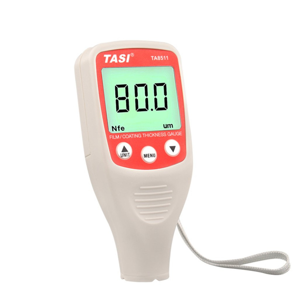 TA8511 Digital Mini Coating Thickness Gauge Car Paint Thickness Meter Paint Thickness tester LCD Thickness Gauge brand genuine amittari wet film thickness comb thickness gauge meter tester 25 2032um 1 80mil paint coating