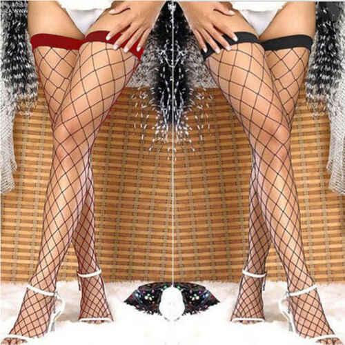 חדש אופנה מכירה לוהטת גברת נשים סקסי מעל הברך להישאר עד ירך גבוהה גרבי רשת קיץ מועדון מקסים גרביים אחד-גודל