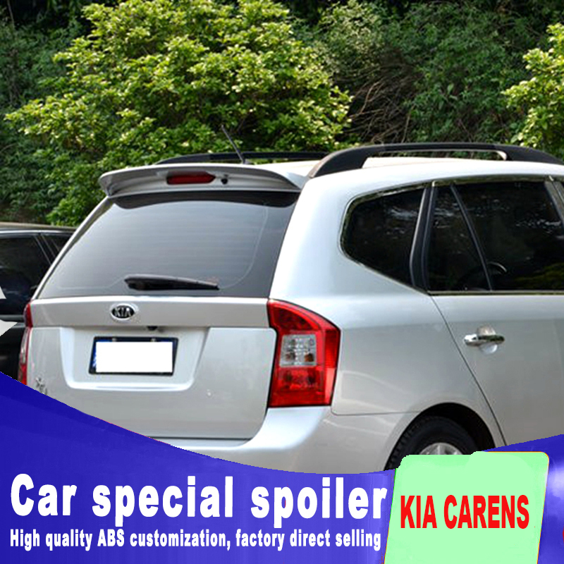 ABS high quality big rear window rear wing spoiler for 2007 2008 2009 2010 2011 kia carens by primer paint carens spoiler 2005 2006 2007 2008 2009 2010 for hyundai sonata rear trunk roof wing spoiler abs material high quality by primer or diy paint