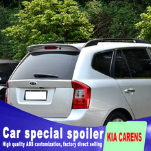 ABS high quality big rear window wing spoiler for 2007 2008 2009 2010 2011 kia carens by primer paint