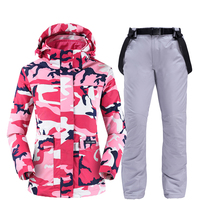 Skiing jackets and pants women ski suit Snowboarding sets Very Warm Windproof Waterproof Snow outdoor Winter Clothes
