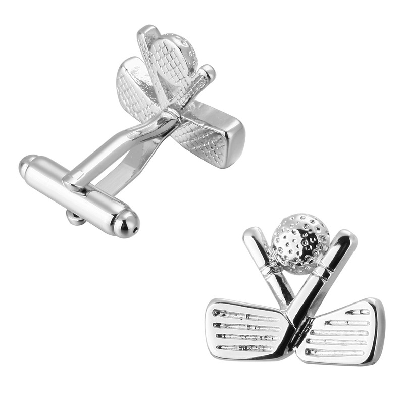 High-end men's shirt brand jewelry <font><b>Cufflinks</b></font> <font><b>Golf</b></font> <font><b>cufflinks</b></font>, sports equipment design style of French shirt accessories image