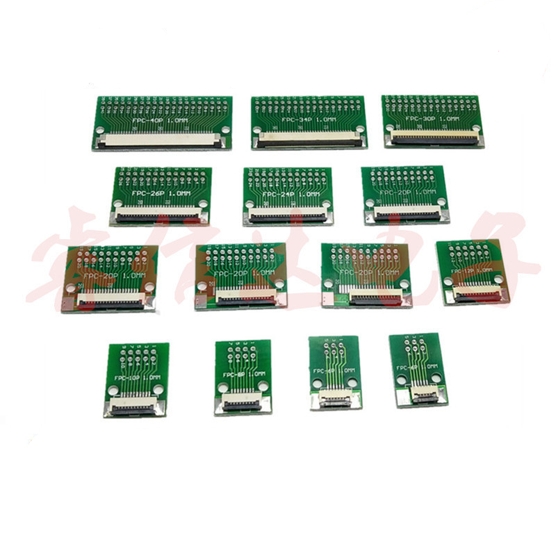 FGHGF DIY FPC/FFC Adapter Board 1.0mm Connector 4P 5P 14P 18P 26P 30P 34P 40P